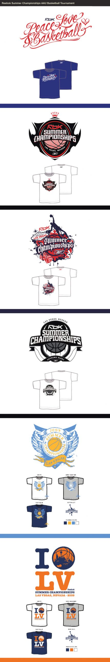 Matt Turney Reebok Summer Championsips Logos